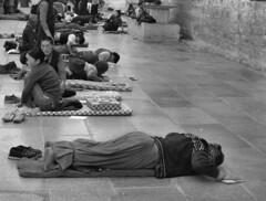 prostrate (Jamie B Ernstein) Tags: tibet lhasa china monochrome blackandwhite nikon asia street pray prostrate budhism devotion