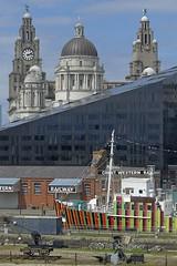 Liverpool Waterside (velton) Tags: royal liver building museum maritime liverpool port dazzle ship edmund gardner canning dock