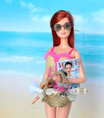 ** On Summer days there is nothing like going for a walk at the beach. ^_^ Mariana is enjoying this Summer day. ** ( Little Enchanted World ) Tags: summer beach handmade bag hat byme littleenchantedworld barbie poppyparker 16scalecute sun