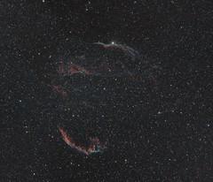NGC6960 - Veil Nebula (Matthi900) Tags: canon ef70200mm f4 skywatcher astrophotography astronomy deep sky super nova ngc6960 veil nebula widefield astrometrydotnet:id=nova1681343 astrometrydotnet:status=solved skynight