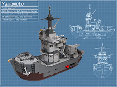 Yamamoto (Dwalin Forkbeard) Tags: lego moc sea ship wowsh battle torpedo turret gun battleship cruiser navy wwii japan