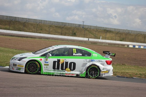 Rob Austin in action at Rockingham, August 2016
