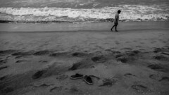 Feets (Vilvesh) Tags: marinabeach marina seashore sea people nikond750 nikon24120 chennai beach monochrome 2ndlongestbeach sky skybluesky clouds