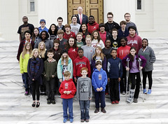 12-18-2014 Capitol School in Tuscaloosa visits Governor Bentley