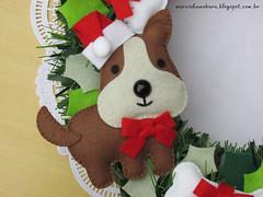 Dog_Natal 2014  (M.Kuwahara) Tags: christmas dog pet natal handmade felt guirlanda feltro marciakuwahara