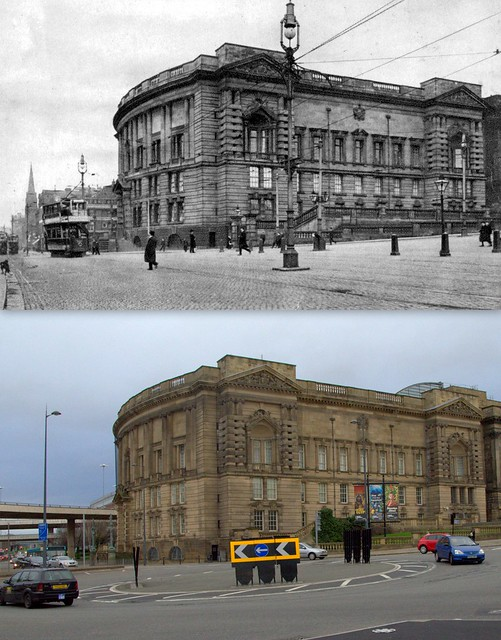 Byrom Street, 1900s and 2014