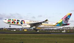 Etihad Airbus A330-243 | A6-EYH  | landing @ Dublin airport | DUB/EIDW 5/11/14 | Milan Expo CS (Mick Planespotter) Tags: airport expo aircraft airbus a330 dublinairport 2014 etihad collinstown eidw a6eyh