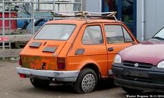 Fiat 126 FSM (XBXG) Tags: auto old italy holland classic netherlands car yard vintage italian rust automobile italia fiat nederland rusty voiture fsm junkyard scrapyard van der scrap casse paysbas corrosion italie lelystad 126 roest sloop ancienne rouille rouillé feer roestig italienne fiat126 sloperij autosloop autosloperij