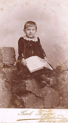I can't read yet but the Book suits me (TrueVintage) Tags: portrait girl child reader kind oldphoto cdv cartedevisite past foundphoto mdchen vergangenheit vintagephoto vintagegirl vintagechild vintageportrait kinderportrait leserin