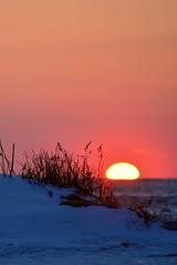 Sun & Snow (imben2images) Tags: sunset snow seaside ct madison hammonasset