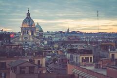 San Carlo al Corso at Dusk (simplediscoveries) Tags: city travel sunset italy rome church view cathedral dusk basilica vista viewpoint sancarloalcorso canon7d