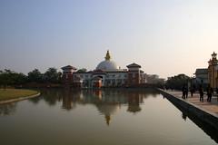 Nepalese monastery, Lumbini (Paul Threlfall) Tags: nepal buddhism unescoworldheritagesite monastery lumbini religiousarchitecture religioussite