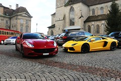 Red & Yellow (Nico K. Photography) Tags: red yellow switzerland ferrari zrich lamborghini ff supercars combo aventador lp7004