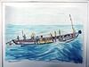 Ghana-Boat (Frizztext) Tags: ocean boat drawing sketchbook ghana fisher watercolors frizztext sergiopessolano