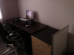 Cleaned my desk up (alldvy) Tags: apple office mac desk setup macbook
