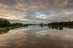 Amanhecer na lagoa (gracampereira) Tags: portugal sunrise aves lagoon nuvens lagoa reflexos recanto nascerdosol observatorio suavidade pateirafermentelos