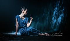 Blue (Lucas Shu) Tags: lighting blue make up japan set tunnel lucas cave shu takedao