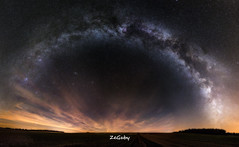 The Gateway - Colors of the night [HDR] (ZeGaby) Tags: panorama france nature pentax hdr milkyway k3 marne longexposuretime autopano champagneardenne voielactée pentaxk3 paysagesdechampagne sigma1835mmf18art