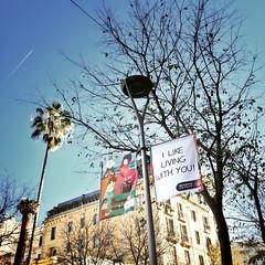 I do @aj_lee like living with you (carlesLopez) Tags: barcelona city trip travel sky blackandwhite bw blancoynegro loving square living ciudad bluesky bn squareformat sentence iphone skyporn iphoneography iphone6 instagramapp