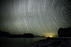 Star trails in Baja (Flightless Kiwi) Tags: longexposure travel camping blur beach night stars mexico movement waves glow baja bajacaliforniasur loreto startrai
