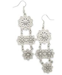5th Avenue Silver Earrings P5210-3