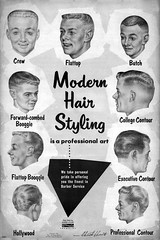 Modern Hair Styling 1956 (Railroad Jack) Tags: