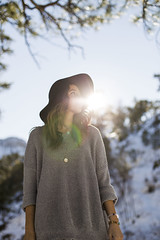 e_MG_0399 (Ben Garcia Photography) Tags: snowflake trees winter white mountain snow cold cute ice girl smile hat fashion forest happy sweater pretty nevada lifestyle mount charleston jacket flannel freckles brunette blizzard snowday