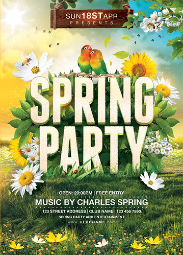 Spring Party Flyer Template  A Photo On Flickriver
