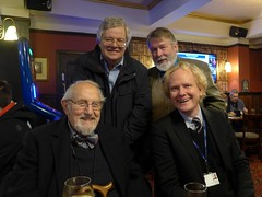 At the Lord Raglan - Douglas Wilmer, Nick Utechin, Roger Johnson & Alex Werner (photo by Jean Upton)
