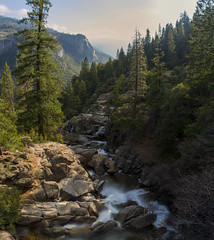 Never interrupt someone doing what you said couldn't be done... (ferpectshotz) Tags: waterfall yosemitenationalpark sierranevada yosemitevalley centralsierras