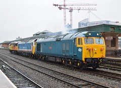 50007, 50017 & 56087 at Cardiff Central. 22/2/15 (Nick Wilcock) Tags: wales cardiff railways hercules royaloak nse class50 cardiffcentral networksoutheast brblue 50007 washwoodheath 50017 cardiffcanton 0z51