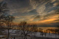 LakeParkBistroSunrise (jmishefske) Tags: park water wisconsin sunrise nikon steps bistro lakemichigan milwaukee lakeshore february lakepark lakefront 2015 d800e
