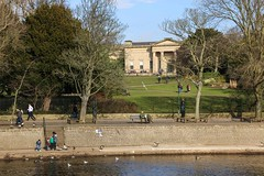 Museum Gardens from the river (nican45) Tags: york tree slr canon river yorkshire dslr tamron ouse waterway riverouse museumgardens yorkshiremuseum 18270 18270mm bridgeyork eos70d 18270mmf3563diiivcpzd