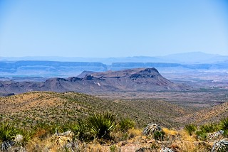 Kit Mountain and the Santa Elena Canyon (Big Bend National Park)