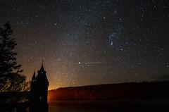 Black Tower (Dave McGlinchey) Tags: uk longexposure lake water wales night stars star nikon space astro reservoir nightime gb astronomy nightsky universe blacktower lakevyrnwy sigma1020mmf35exdchsm astronomyrelated