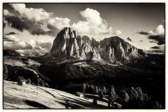 From a Distance... (Ody on the mount) Tags: italien bw urlaub himmel wolken berge sw ortisei dolomiten gipfel fototour langkofel anlsse trentinoaltoadige