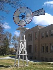 Hansford County Courthouse- Spearman TX (4) (kevystew) Tags: windmill texas courthouse courthouses spearman countycourthouse uscctxhansford hansfordcounty perkinswindmillcompany