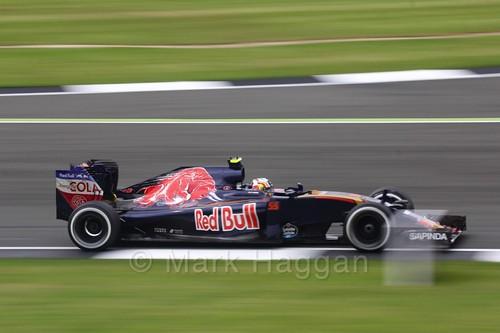 Carlos Sainz Jr in the Toro Rosso in Free Practice 1 at the 2016 British Grand Prix