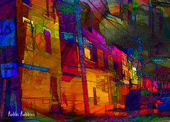 Caught In The Vortex (brillianthues) Tags: street city urban philadelphia collage photoshop photography colorful badlands photmanuplation