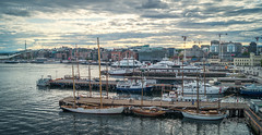 Oslo, Norway 0076 - Boats in the Harbor (IP Maesstro) Tags: oslo harbor fjord norway boats sea summer water clouds sly sunset sunrise hdr ipmaesstro