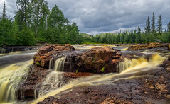 Temperance River (Paul Domsten) Tags: bruleriver temperanceriver lakesuperior landscape waterfall outdoor pentax minnesota clouds trees northshore