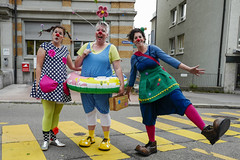 Between the Rain (Jrg) Tags: street clown clowns stgallen kostm cosume