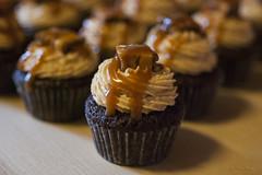 Snickers mini-cupcakes (c.flessen) Tags: cakes dessert cupcakes sauce chocolate nougat peanuts caramel snickers snacks cocoa peanutbutter bakedgoods buttercream heavycream hea minicupcakes saltedcaramel