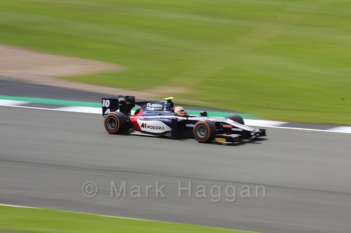 Artem Markelov in the Russian Time car in GP2 Practice at the 2016 British Grand Prix