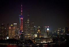 Night Falls on Lujiazui (bluetrayne) Tags: china nightphotography urban night evening shanghai  cityskyline