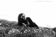 The wind of loneliness... (alessandrafinocchiaro67) Tags: monochrome blackwhite portraitwoman selfportrait open mountain summer nikond750 fx flickrtravelaward