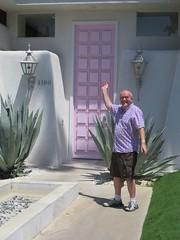 August 09, 2016 (365 Gay #106) (gaymay) Tags: california desert gay palmsprings riversidecounty coachellavalley pinkdoor thatpinkdoor door outside
