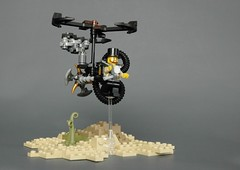 Steampunk microsuit 1 (adde51) Tags: flying desert lego machine steam walker mecha mech steampunk moc adde51 microsuits