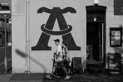 A wall (mightyhansa) Tags: aquilla macclesfield lettera cafe bar monochrome street