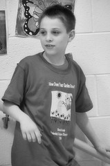 2016-04-07 (147) Fred D ES 2nd grade show (How Does Your Garden Grow) afternoon (JLeeFleenor) Tags: photos photography virginia va leesburg loudouncounty frederickdouglass elementaryschool twins inside indoors youthactivities youth skit bw blackwhite monochrome